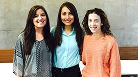 Sarah Kellerhals (left) is considering a career as a primary-care physician.