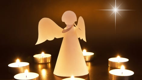 Christmas angel with candles