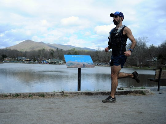 The Mount Mitchell Challenge and Black Mountain Marathon finish with a lap around Lake Tomahawk.