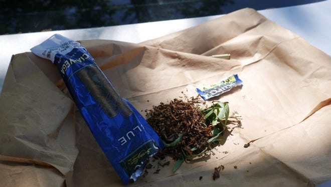 A 15-year-old sold this grass to someone looking to buy marijuana, police said.