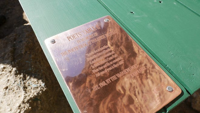 A new table is taken to the Poet's Table spot in Custer State Park. The previous table was vandalized and removed by two women.