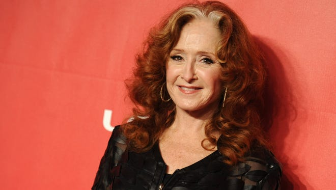 Bonnie Raitt arrives at the 2015 MusiCares Person of the Year event at the Los Angeles Convention Center on Feb. 6, 2015.