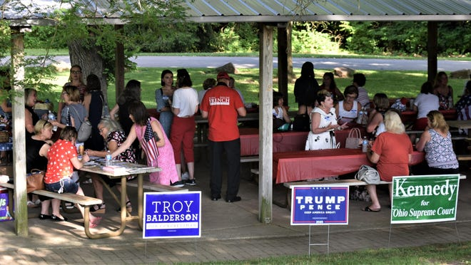 Supporters of President Donald Trump gathered in a Delaware Park last week with no apparent regard for COVID-19 precautions.