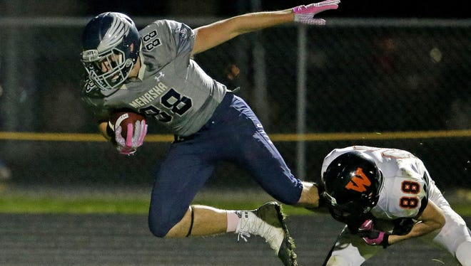 Menasha tight end Luke Romnek will play for the North team in the Wisconsin Football Coaches Association all-star game this year.