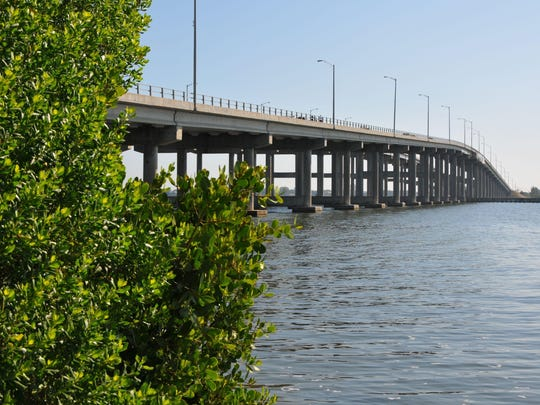 Brevard County is seeking $38.1 million in state funding for projects related to cleanup of the Indian River Lagoon. Pictured here are mangroves by the Melbourne Causeway.