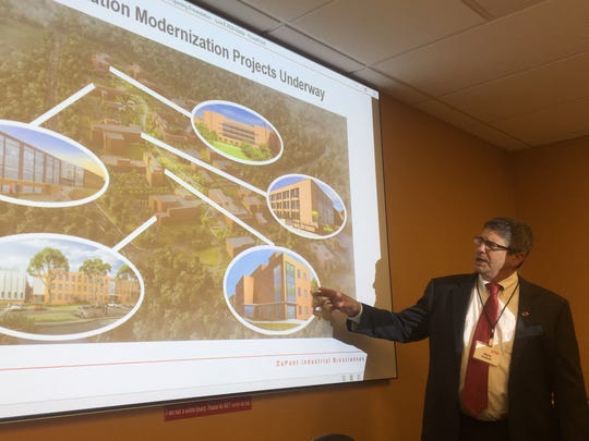 DuPont facilities director Chris Koelsch on Friday describes multiple renovations planned for the DuPont Experimental Station