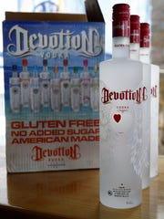 Bottles of Devotion Vodka are shown at Bar Anticipation