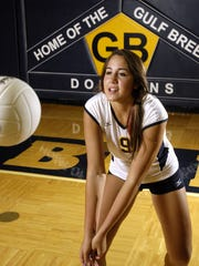 11-2-10, 2c  Gulf Breeze's Jasmine Crowell led the area in kills last year and has a verbal commitment to play volleyball for the University of Southern Mississippi.