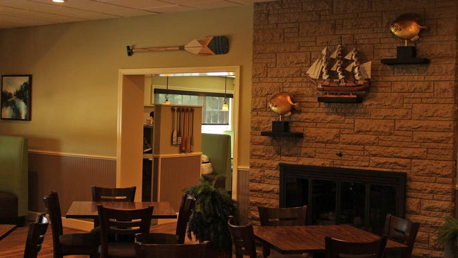 There's a nautical theme at the new Palmer River Grille, just opened this week.