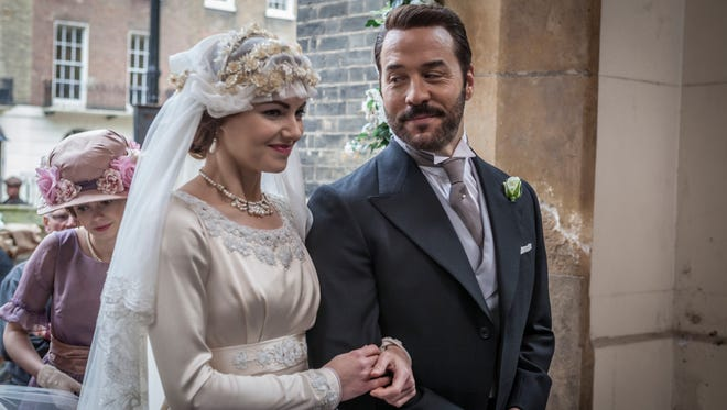 Kara Tointon as Rosalie Selfridge and Jeremy Piven as Harry Selfridge on  'Mr. Selfridge' on 'Masterpiece.'