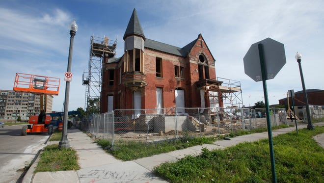 """The  Ransom Gillis mansion in Detroit's Brush Park district is being renovated by Nicole Curtis of the HGTV show """"Rehab Addict""""   on Thursday, Aug. 6, 2015. The renovation of the historic mansion will be featured in a series featuring Curtis in November on HGTV"""