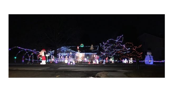 Sam and Anna Blizzard's display at719 Overbrook Ave., captured the grand prize inMillville Recreation'sannual Holiday Home Lighting Contest.