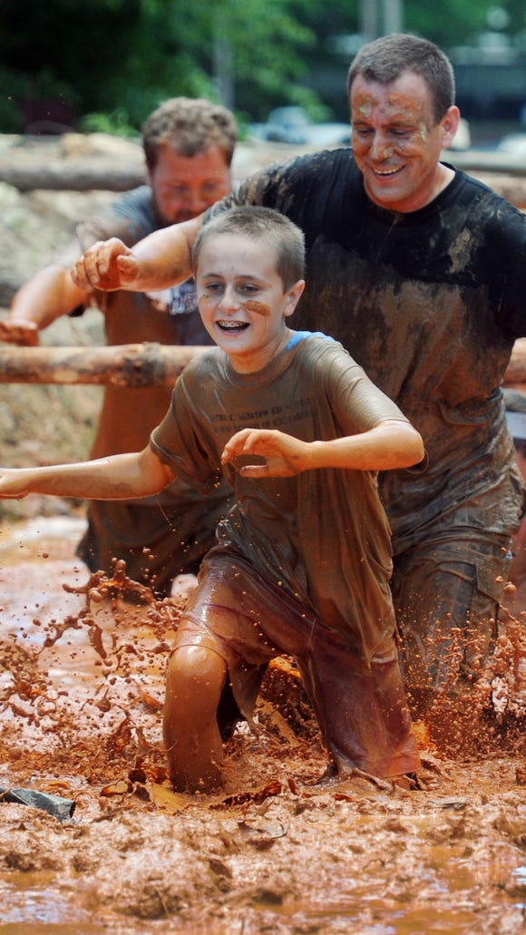 The Mad Mountain Mud Run, seen here in 2013, in Hendersonville, is a benefit for the non-profit   children's s museum Hands On!-A Child's Gallery.