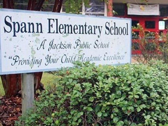 Spann Elementary School, one of three white schools
