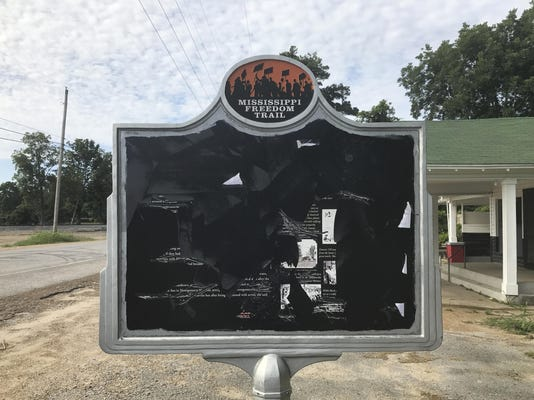 Civil Rights Sign Vandalized