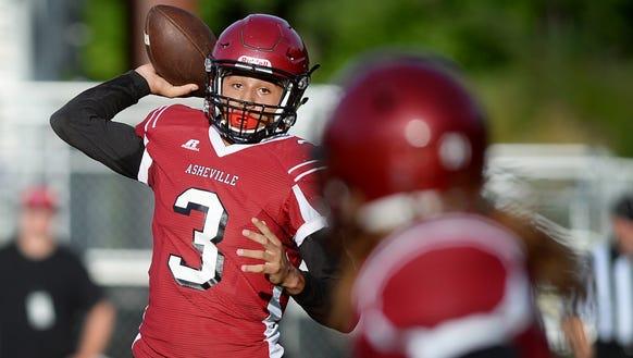 Asheville High's Devon Davidson has 3,396 career passing