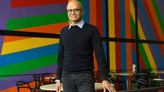 Satya Nadella, 49, took over for Microsoft CEO Steve Ballmer three years ago this month. He has successfully remade the company culture, but now must deliver on some big bets ranging from a LinkedIn acquisition to HoloLens mixed reality technology.