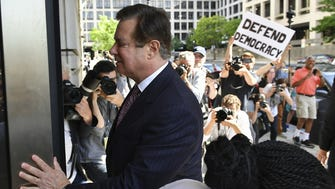 Paul Manafort arrives for a hearing at US District Court, Washington, June 15, 2018.