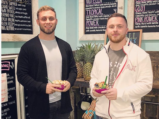 Friends Connor Michel and Anthony Rubino will open Playa Bowls on Route 23 north in Pequannock early in 2018.
