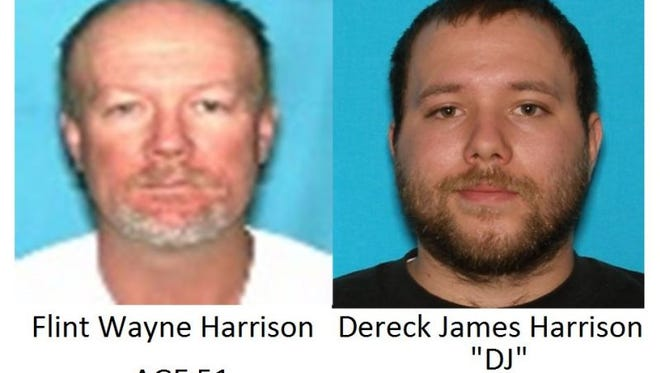 Flint Wayne Harrison and Dereck James Harrison are wanted out of Centerville for the kidnapping and assault of five women.