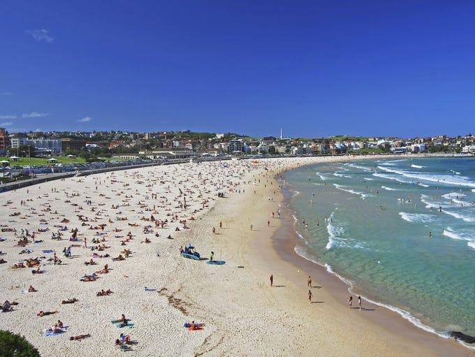 Bondi beach wave height