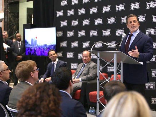 Quicken Loans founder and chairman Dan Gilbert speaks