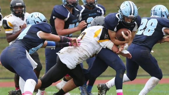 Westlake defeated Nanuet 35-8 in football action at