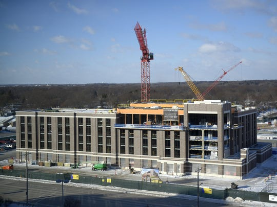 Lodge Kohler begins to look more like its final form as construction continues in the Titletown District.