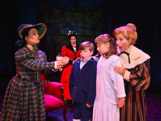The mean nanny Miss Andrew (Mary Jo Marzilli-Mendola)