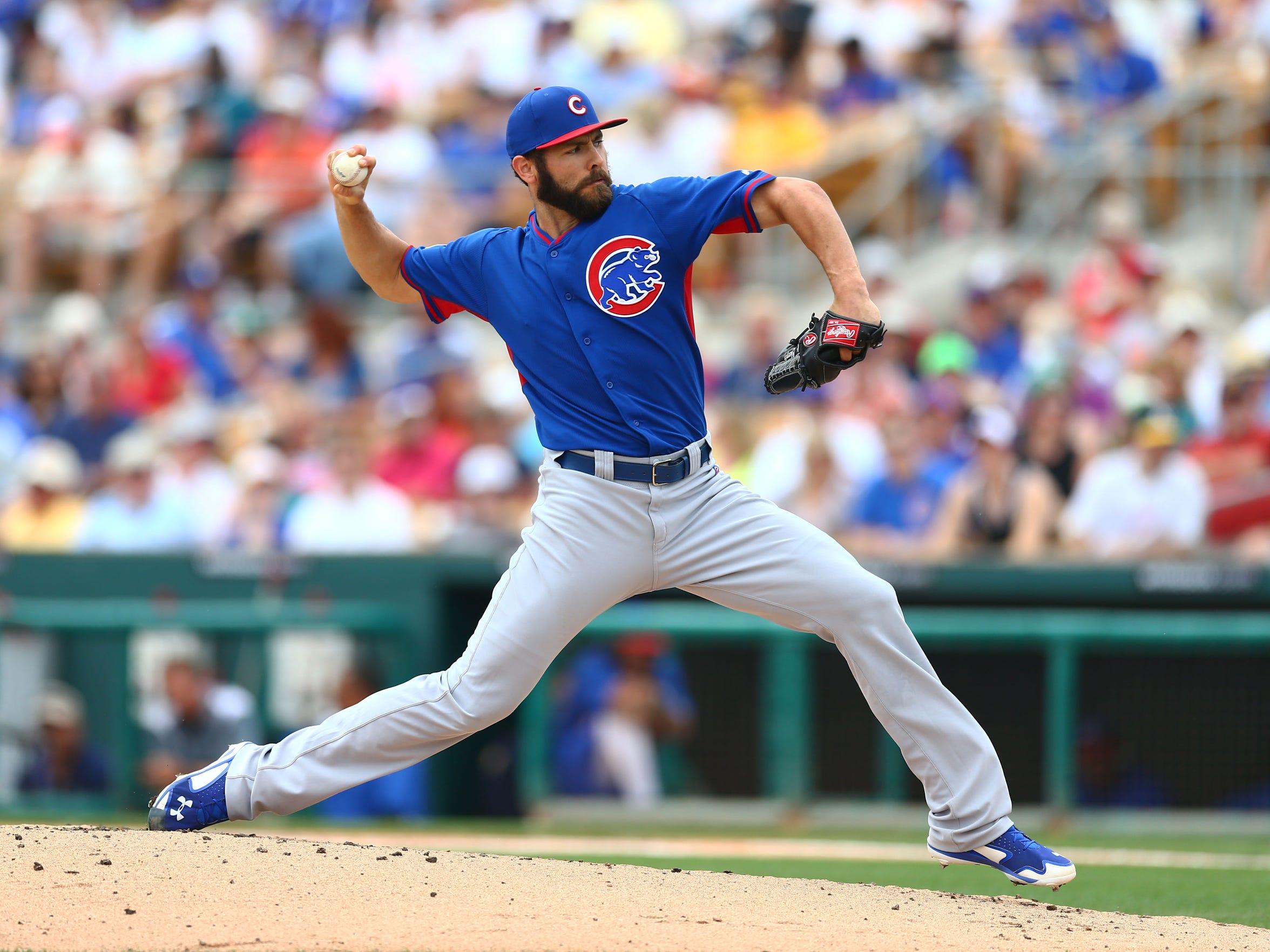Chicago Cubs pitcher Jake Arrieta flipped a switch
