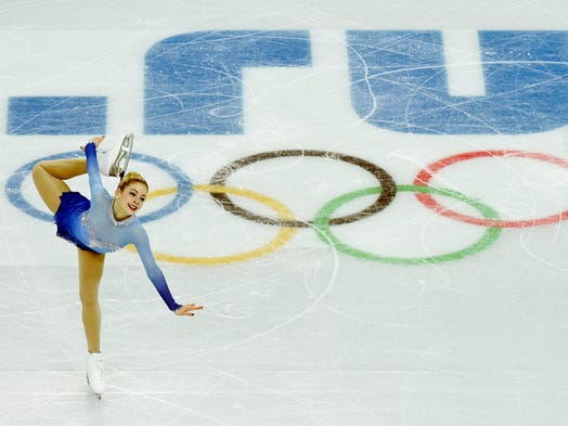 Gracie Gold performs her free skate during the team figure skating competition at the Winter Olympics in Sochi.