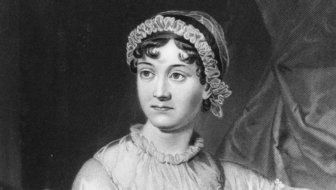 English novelist Jane Austen, shown here in an original family portrait, died on July 18, 1817 at age 41.