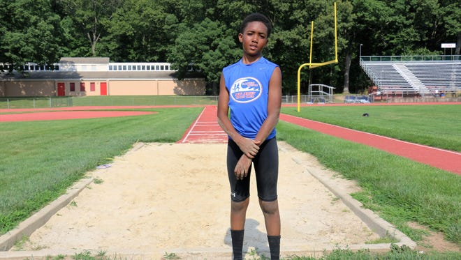 Jarvis Jones, 11, will compete in the long jump at the Junior Olympics in Texas on August 5, 2016.  He is fifth grader at Cedarbrook School, an elementary school from k-8, part of Plainfield Public Schools.