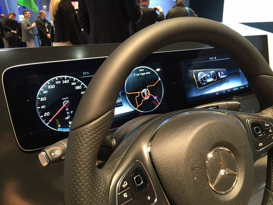 Mercedes-Benz showed off its brand new Touch Pad steering