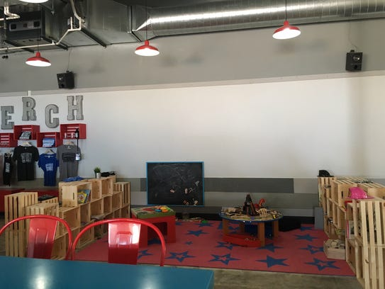 Intersect Brewing's taproom features a dedicated play