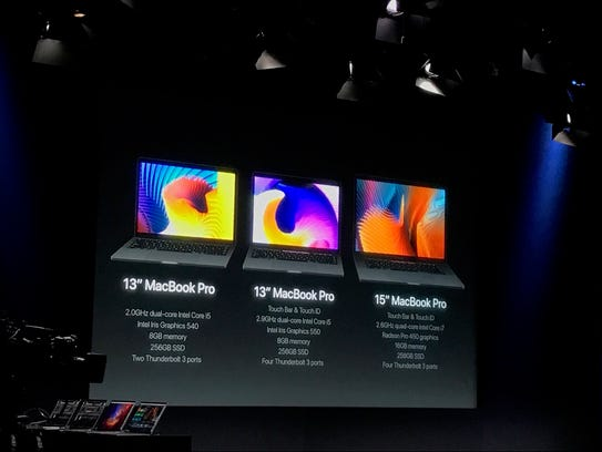 Apple unveiled new MacBooks at an event in Cupertino