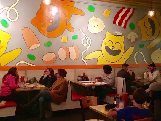 Krunkwich Ramen House has a playful interior.
