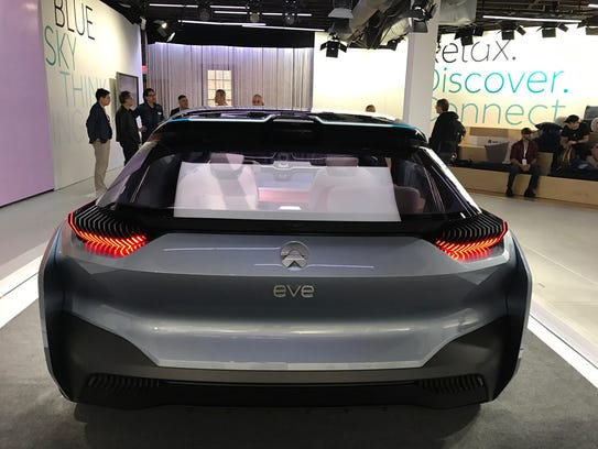 NIO Eve is a five-passenger sedan with Level 4 autonomy
