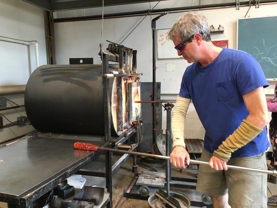Dan Burstien at work.