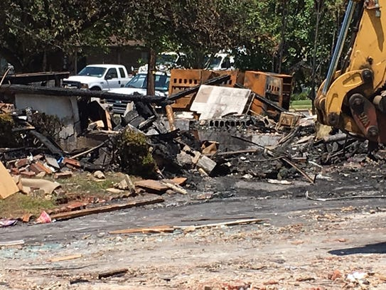 The charred remains of Joe Keleman's a Piscataway home