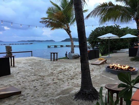 The view from CocoMaya Restaurant on Virgin Gorda.