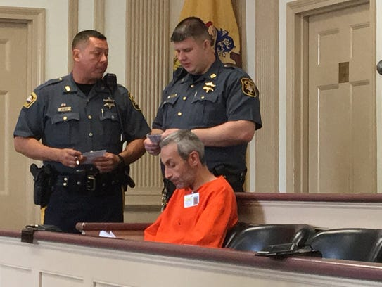 Defendant Gregory Radzyuk, accused of carrying a hunting