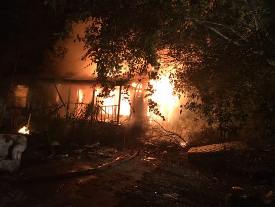 Fire destroyed a vacant home on the 600 block of Moore