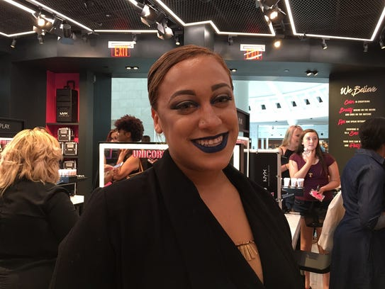 Sam Solano, sales associate at NYX Professional Makeup