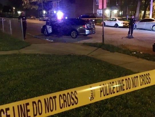 Police responded around 9:45 p.m. to the 2300 block