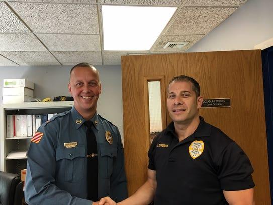 Rockaway Borough Police Chief, left, with borough Sgt.