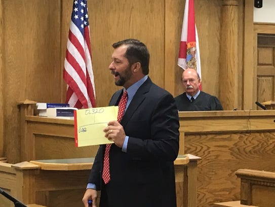 Assistant State Attorney David Stamey makes a closing