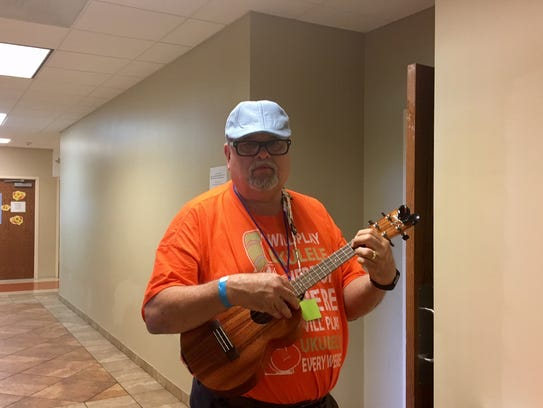George Anzivino of Cape Cod at the New Jersey Uke Fest