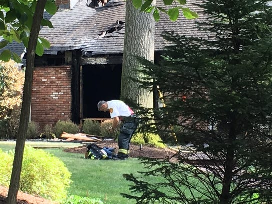 Firefighters remained at a Westfield house fire until