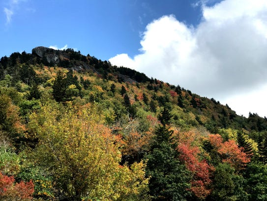 Fall color is starting to fall upon Grandfather Mountain.